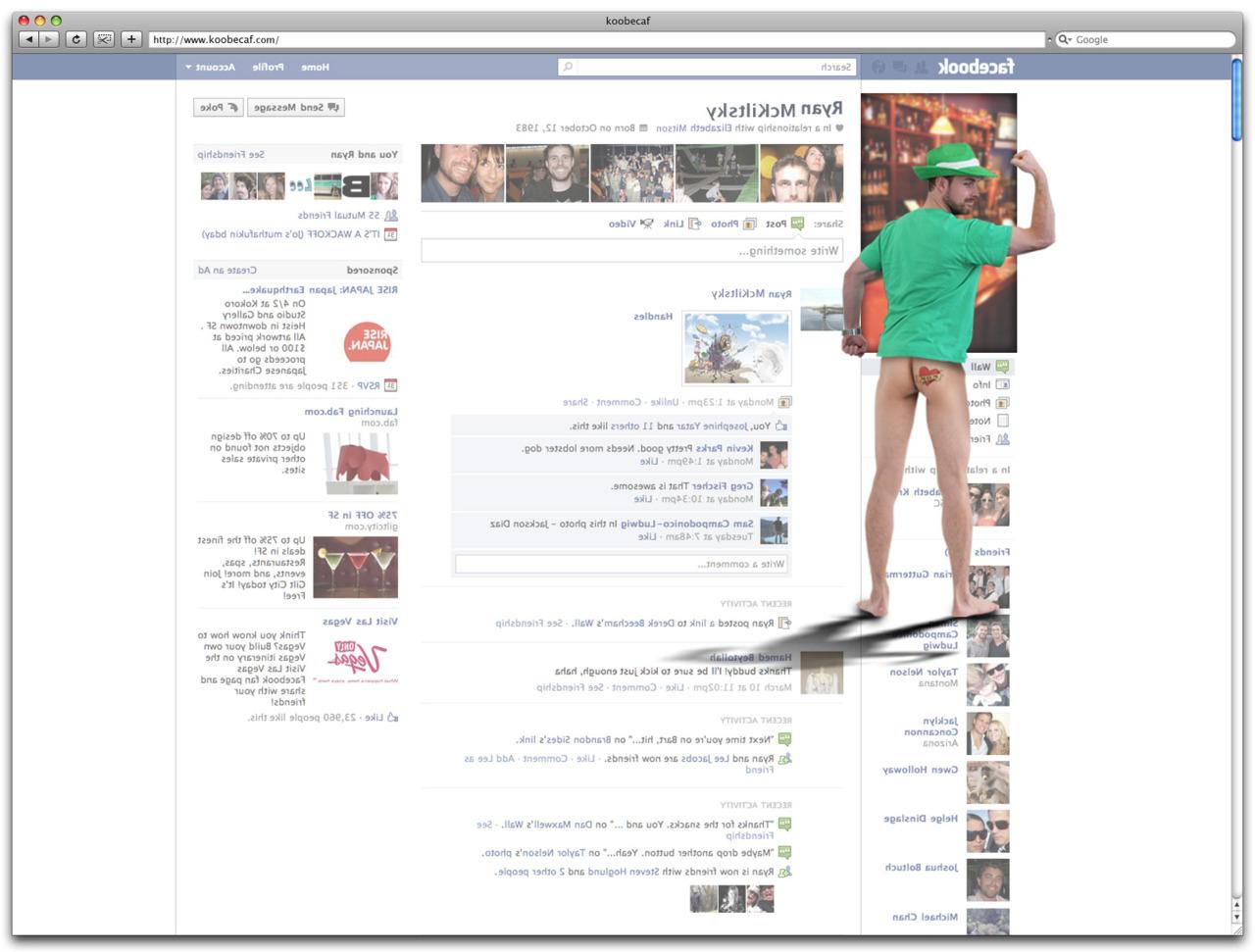 Backside of Facebook