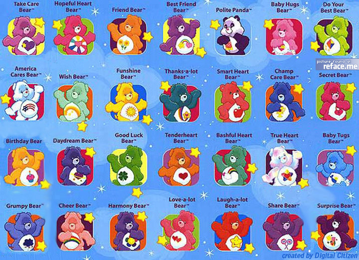 Care Bears Facebook Tagging Picture