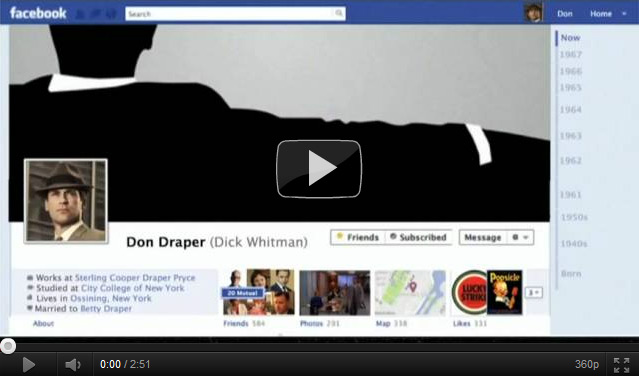 Don Draper Presents: Facebook Timeline (Video)