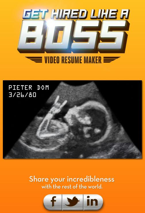 Like a boss video resume maker