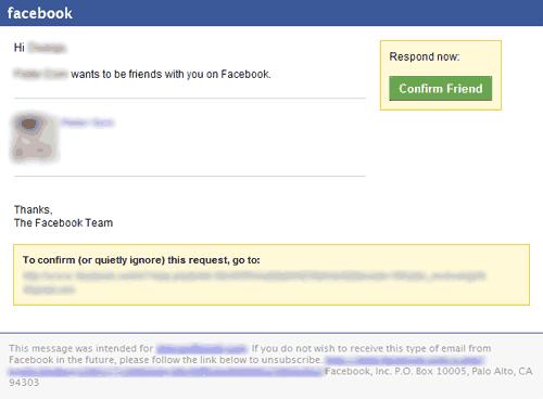 Facebook Friend Request Notification Friend request email