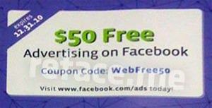 $50 Facebook Ad Coupon