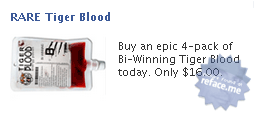 Facebook ad: Tiger Blood