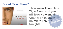 Facebook ad: True Tiger Blood