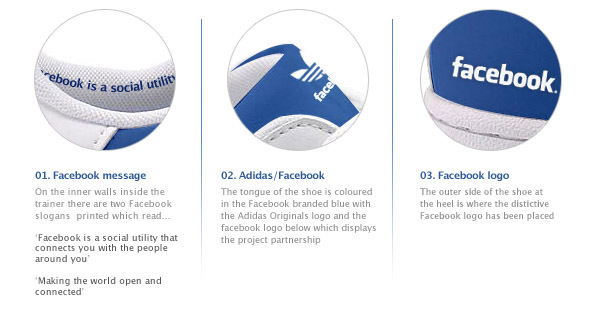 Facebook Shoes Features