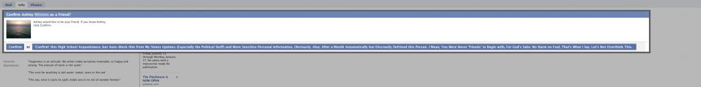 Facebook Confirm, But... Button Concept