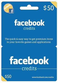 Facebook Credits Gift Cards