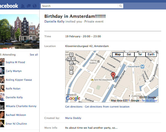 Google Maps in Events
