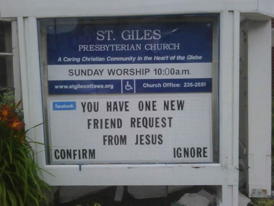 Jesus Facebook friend request
