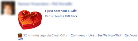 Facebook gift virus on the loose