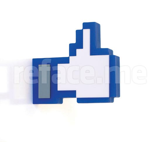 Facebook Like Coat Hanger