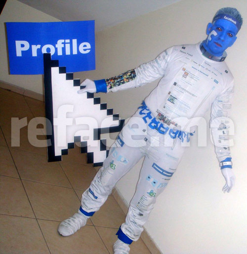 Facebook man costume