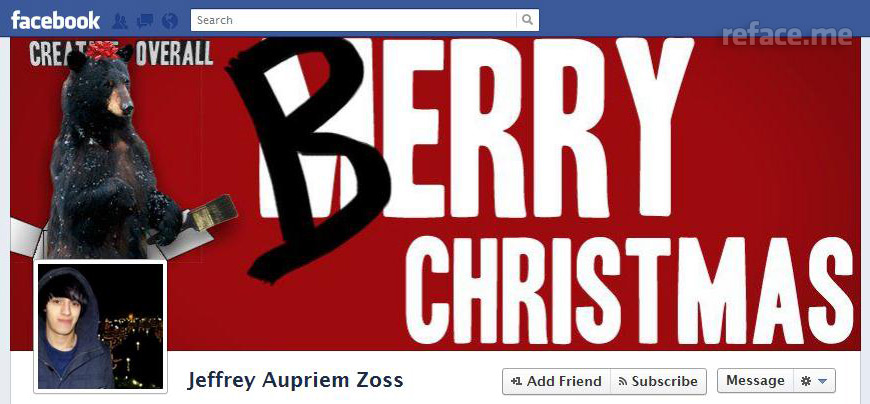 Facebook Timeline Cover: Berry Christmas