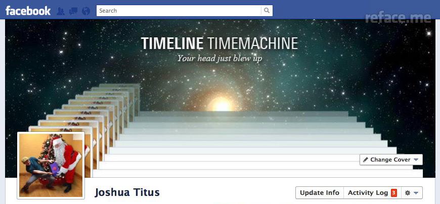 Facebook Timeline Santa gift