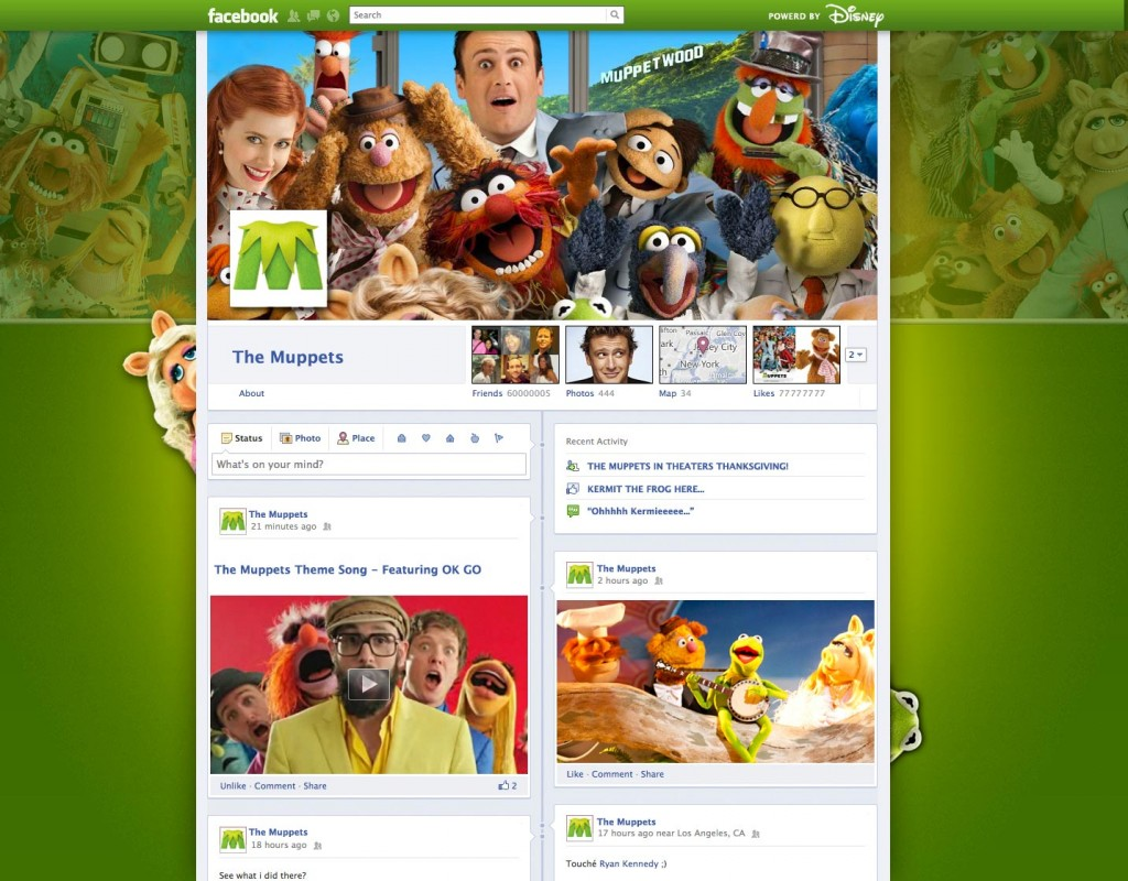 Facebook Timeline Muppets movie