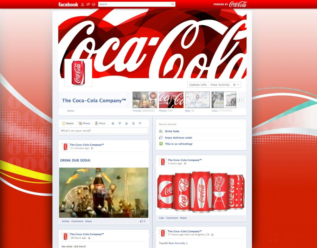 Facebook Timeline: Coca Cola