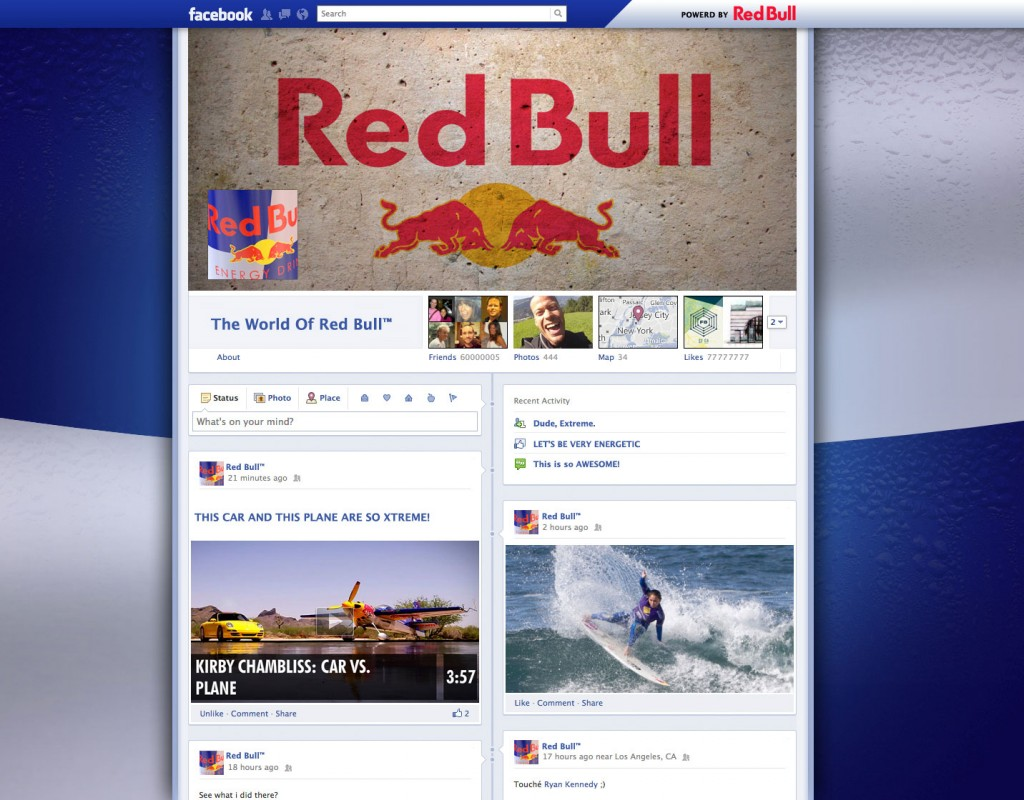 Facebook Page Timeline: Red Bull