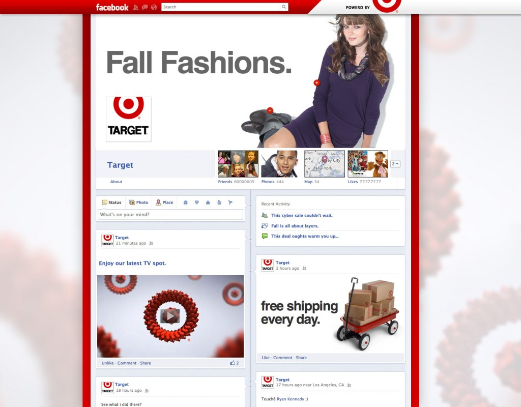 Facebook Timeline for Target Page