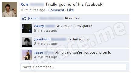 Get rid of Facebook fail