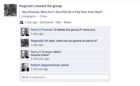 Famous last Facebook status updates: Nagasaki