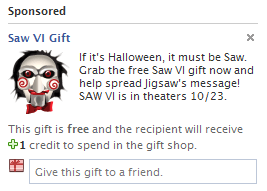 Free Facebook Gift: Saw VI