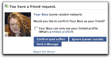 Friend request from your boss