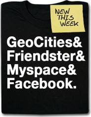 Geocities & Friendster & MySpace & Facebook