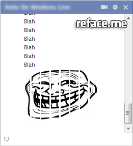 Giant Trollface Facebook Chat