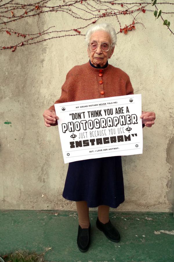 Grandmother's Advice on Social Media - Instagram