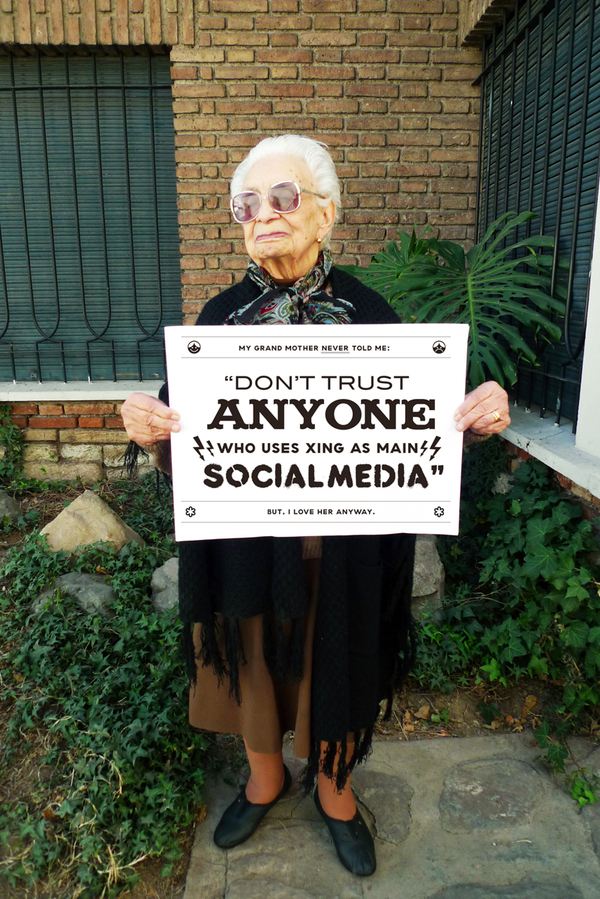 Grandmother's Advice on Social Media - Xing