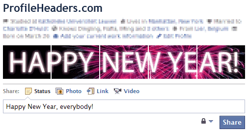 Happy New Year Facebook Profile Header