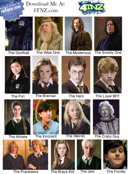 Pics For > Harry Potter Main Characters Names
