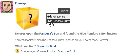 Hide Pandora's Box Button