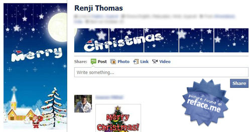 Facebook Holiday Profile Hack