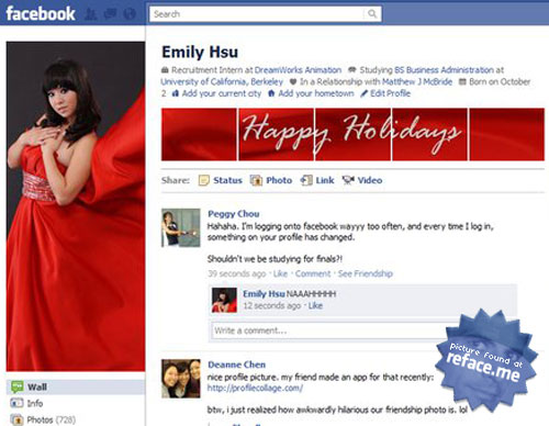 Facebook Holiday Profile