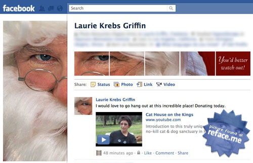 Santa Facebook Profile