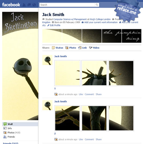 Jack Skellington Profile Hack