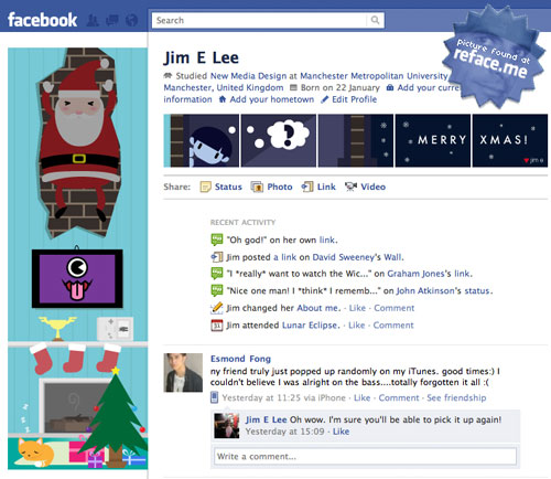 Santa Claus Facebook Profile