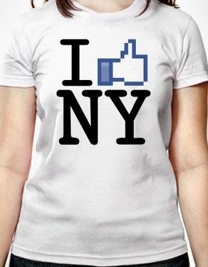 I like New York, I like Facebook t-shirts
