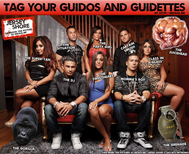 Jersey Shore Facebook Tag Picture
