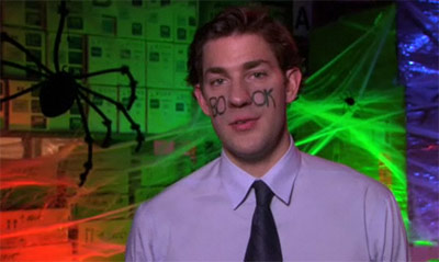 Jim Halpert's Facebook Halloween costume in The Office