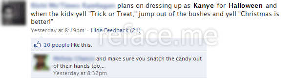 Already the best Halloween status update of the year