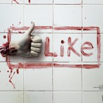 Most Bloody Like Button For Horror Film Fest Ad