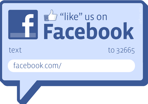 Like us on facebook window stickers for Like us on facebook sticker template
