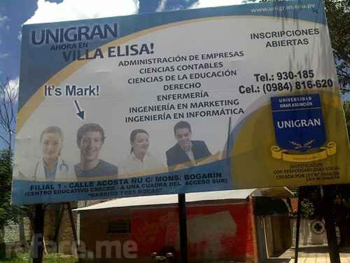 Mark Zuckerberg Paraguay University