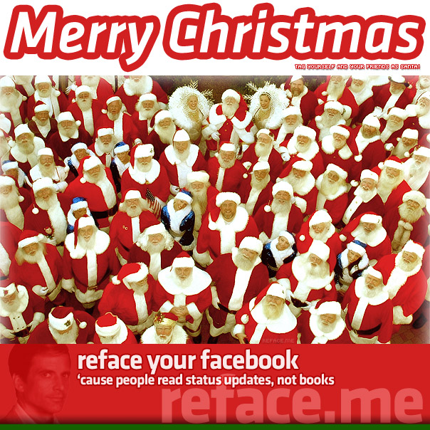 Wish your Facebook friends a Merry Christmas with the Santa Tag Picture