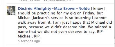 Funny Michael Jackson Facebook Status Updates