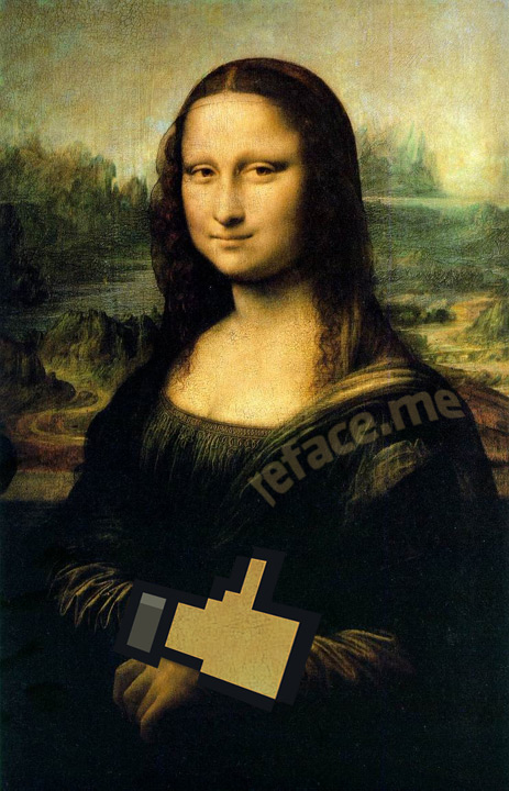 Mona Lisa Facebook Like
