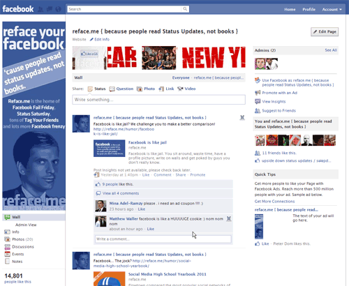 blank facebook page layout. New Facebook Page Layout