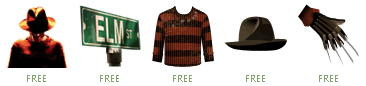 Free Facebook Gifts: Nightmare on Elm Street